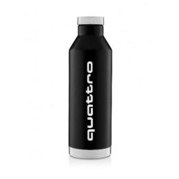 Audi quattro Isolierflasche Thermoflasche Trinkflasche schwarz 800 ml