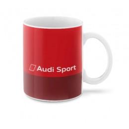 Audi Sport Tasse Becher Kaffeetasse rot