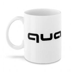 Audi quattro Tasse Becher Kaffeetasse weiß/schwarz
