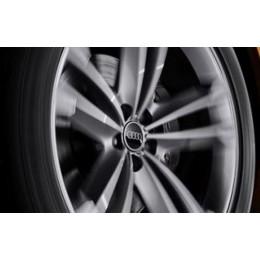Original Audi Dynamische Nabendeckel Nabenkappen schwarz Audi Ringe