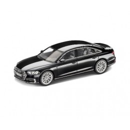 Audi A8 L Modellauto 1:18 Mythosschwarz Norev Baujahr 2017
