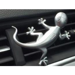 Original Audi Designgecko Gecko in Aluminiumoptik