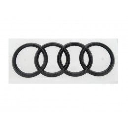 Original Audi Q5 FY Sportback Ringe Emblem Logo Heckklappe schwarz glänzend