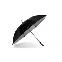 Audi Stockschirm Regenschirm groß, schwarz / titan 120 cm