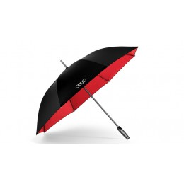 Audi Stockschirm Regenschirm groß, schwarz / rot 120 cm