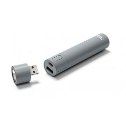 Audi LED Taschenlampe mit Powerbank USB microUSB Ladegerät Akku grau