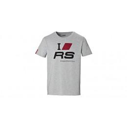Audi Sport T-Shirt Fanshirt Herren I love RS hellgrau