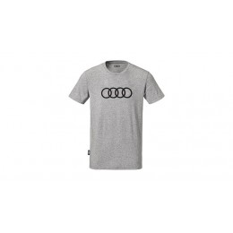 Audi Herren T-Shirt grau Audi Ringe
