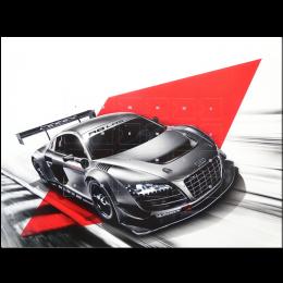 Audi R8 LMS Adventskalender Vollmilch-Schokolade 345 x 244 x 12 mm