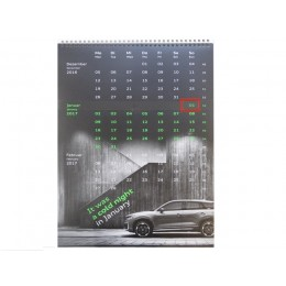 Audi 3-Monatskalender Wandkalender Kalender Calender 2017 - 30 x 52 cm