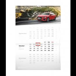 Audi Drei-Monats-Kalender DIN-A3 Wandkalender Calender Büroplaner 2021