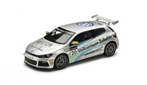 """VW Scirocco R-Cup 2012 1:43 Team """"Volkswagen Zubehör"""" silber"""
