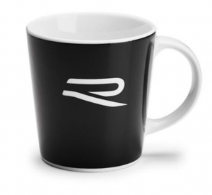 VW R-Line Tasse Becher Kaffeetasse Kaffeebecher R Logo schwarz - 5H6069601