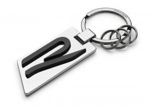 Original VW R-Line Schlüsselanhänger R Schriftzug Metall silber 5H6087010