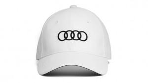 Audi Baseballcap Cap Kappe Mütze Ringe Unisex weiß
