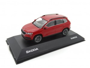 Skoda Karoq Modellauto Miniatur 1:43 Velvet-Rot MVF38-802