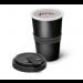 Audi Sport Trinkbecher Kaffeebecher Becher Porzellan Carbonoptik grau