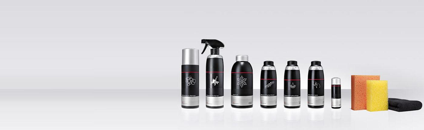 Rundumpflege für Ihren Audi. Original Audi Pflegemittel